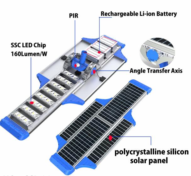 Jual Lampu PJU tenaga Surya Solar cell Model Titan 80 watt GC-28 detail