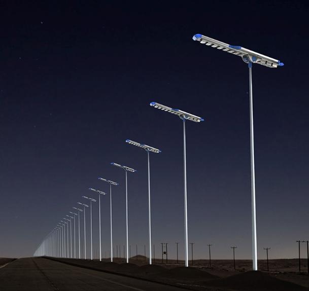 Contoh pemasangan lampu pju all in one titan tenaga surya