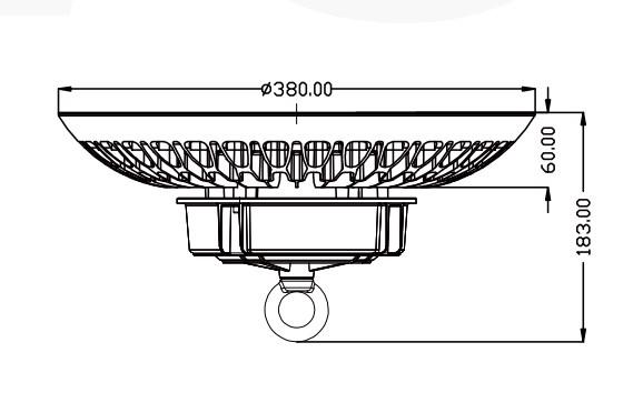 Ukuran Lampu ufo gantung untuk gudang
